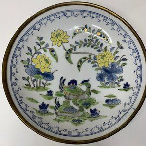 Vintage Hand Painted Canton Ware Bowl Decor